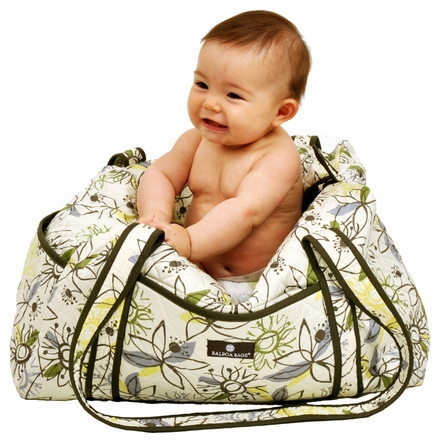 Duffle Diaper Bag Retro Flower