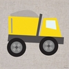 Dump Truck Canvas Wall Art
