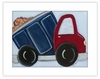 Dump Truck Framed Canvas Reproduction