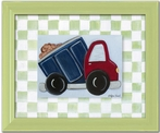 Dump Truck Personalized Framed Canvas Reproduction