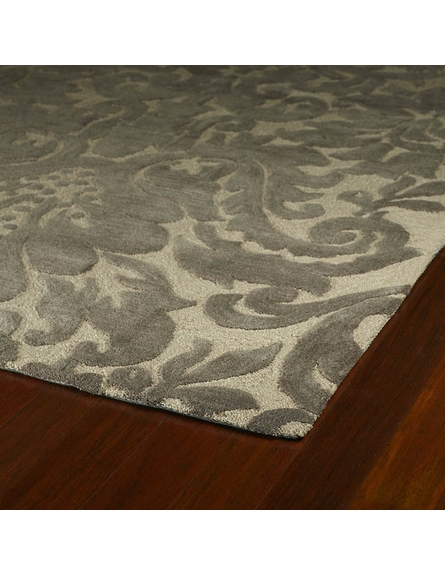 Duncan Damask Rug in Taupe