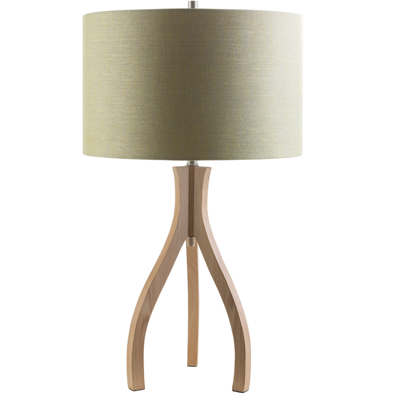 duxbury wood table lamp with green shade by surya. Black Bedroom Furniture Sets. Home Design Ideas