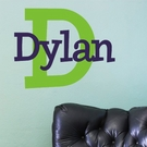 Dylan's Preppy Monogram Wall Decal