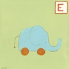 E is for Elephant Canvas Reproduction