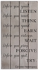 Earnest Hemingway Quote Vintage Slat Wall Sign