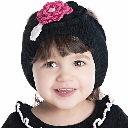 Earwarmer Headband with Flower