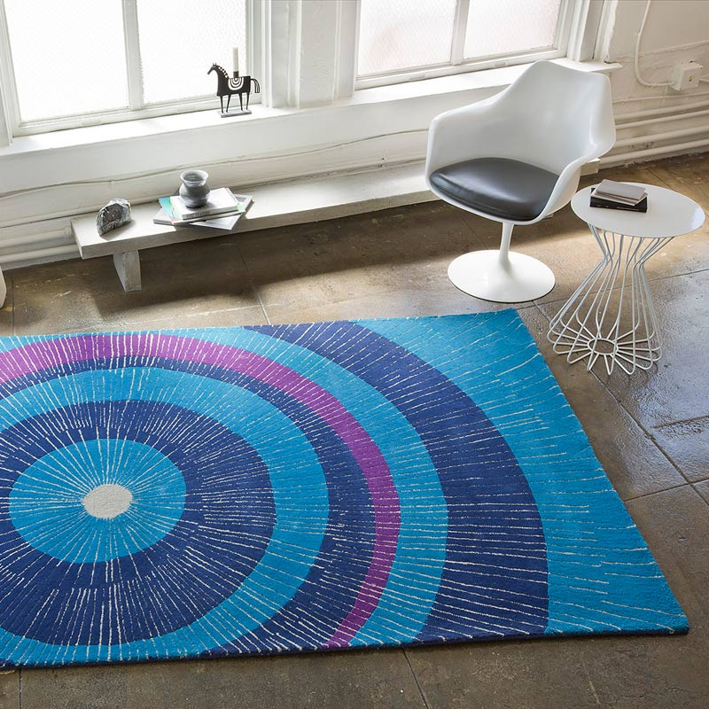 Eccentric Area Rug In Blue And Purple By Not Neutral