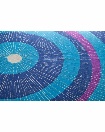 Eccentric Large Area Rug In Blue And Purple By Not Neutral