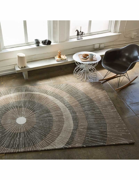 Eccentric Large Area Rug in Dark Sable