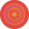 Eccentric Round Rug in Orange and Red