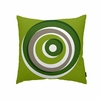 Eccentric Throw Pillow in Green