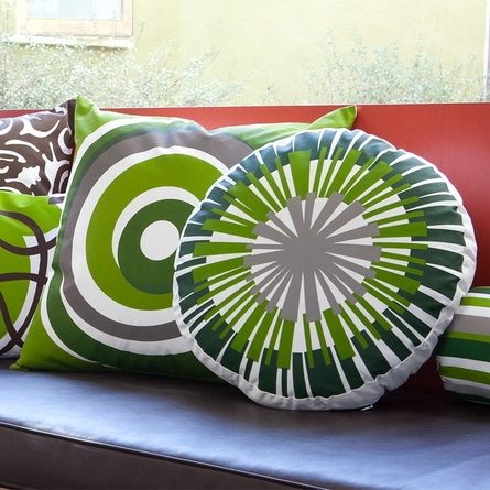 On Sale Eccentric Throw Pillow in Green