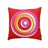 On Sale Eccentric Throw Pillow in Red