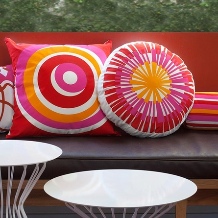 Eccentric Throw Pillow in Red
