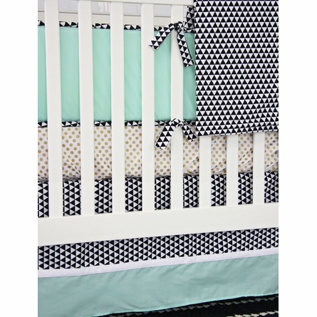 Eclectic Mint Crib Bedding Set