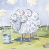 Ed the Sheep Canvas Reproduction