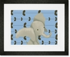 Edison the Elephant Framed Art Print
