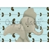 Edison the Elephant in Powder Blue Canvas Wall Art