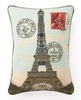 On Sale Eiffel Tower Needlepoint Pillow