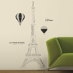 Eiffel Tower Neutral Giant Wall Decals