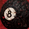 Eight Ball Canvas Wall Art