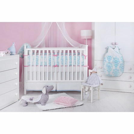 Ela Light Blue Organic Cotton Baby Bedding Set