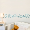 Ele Elephant in Blue Wall Decal