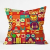 Electro Circus Throw Pillow