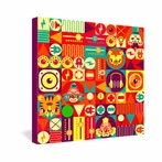 Electro Circus Wrapped Canvas Art