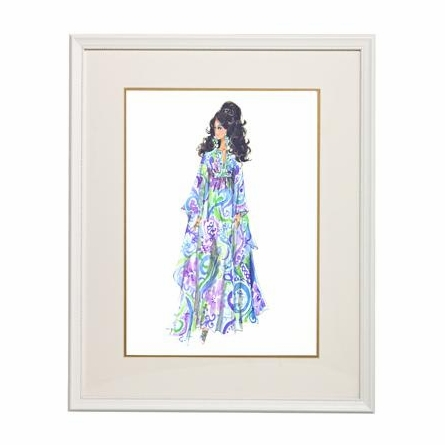 Elegance Framed Couture Barbie Art Print