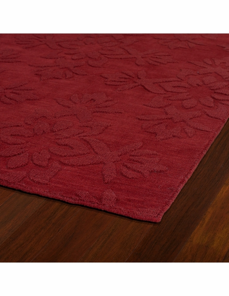 Elegant Floral Imprints Classic Rug in Red