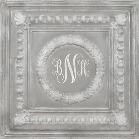 Elegant Square Gray Metal Wall Plaque