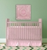Elegant Square Pink Metal Wall Plaque