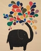 Elephant Afternoon Wood Panel Art Print