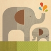 Elephant Baby Square Jumbo Wood Panel Art Print