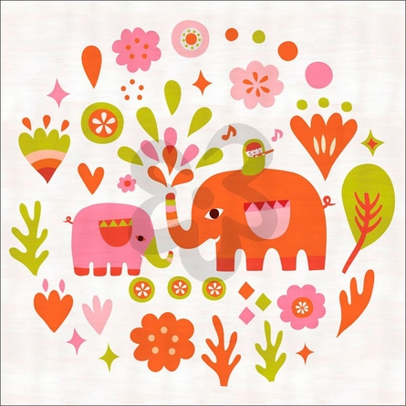 Elephant Charmer Canvas Wall Art