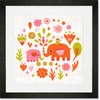 Elephant Charmer Framed Art Print
