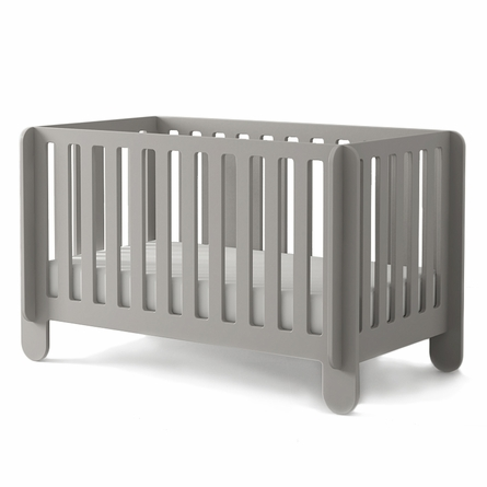 Elephant Convertible Crib in Grey