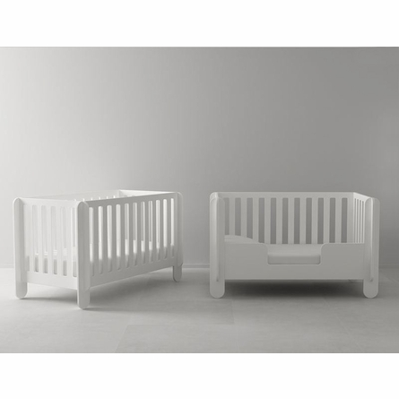Elephant Convertible Crib in White