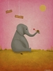 Elephant Grand Gestures Canvas Reproduction