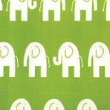 Elephant Green - Print Fabric