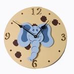Elephant Head Wall Clock