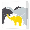 Elephant Kiss Canvas Wall Art