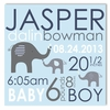 Elephant Love Boy Personalized Canvas Birth Announcement