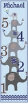 Elephant Love Boy Personalized Growth Chart