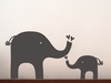 Elephant Love Chalkboard Wall Decal