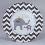 Elephant Love Personalized 3-Piece Dinnerware Set