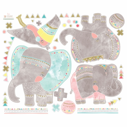 Elephant Parade Fabric Wall Decals