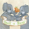 Elephant Peek a Boo Canvas Reproduction