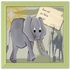 Elephant Safari Canvas Reproduction